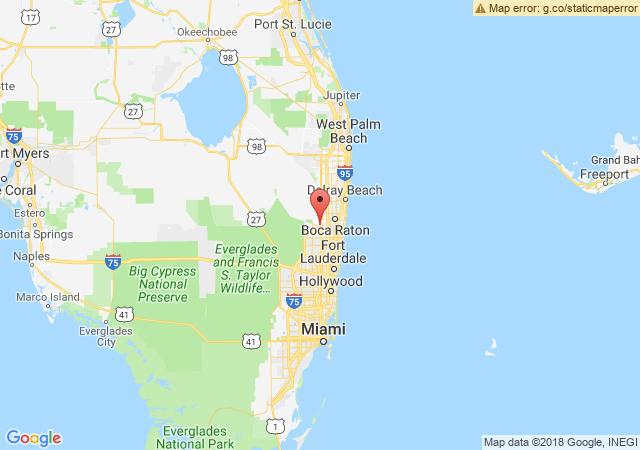 Google map image of SW Sandalfoot Blvd, Boca Raton, FL 33428, USA